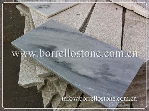 cloudy grey marble tile