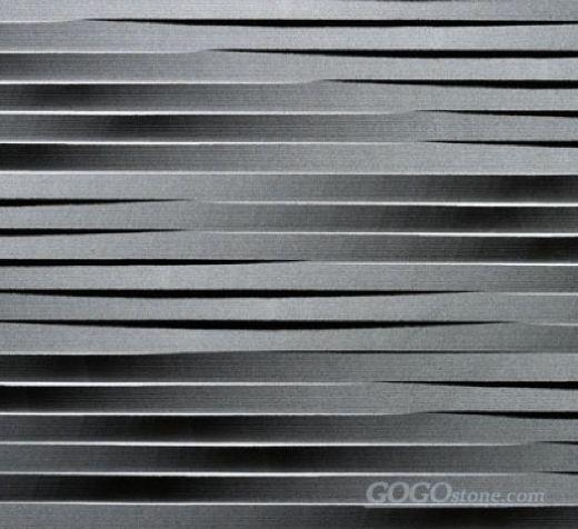 Natural stone 3d black basalt wall art tile
