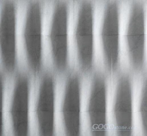 Modular natural stone 3D marble walldecor tile
