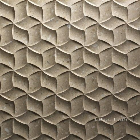 3d stone interior feature wall panels