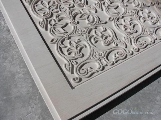 Decorative stone wall panel