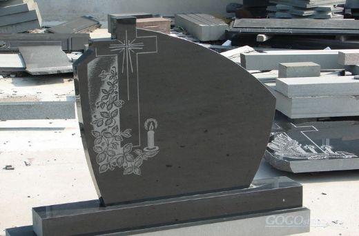 European style rose carving granite baby headstones