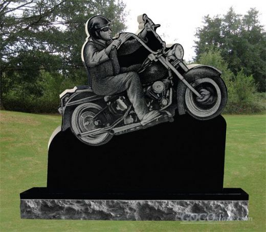 antique style motorbike monument