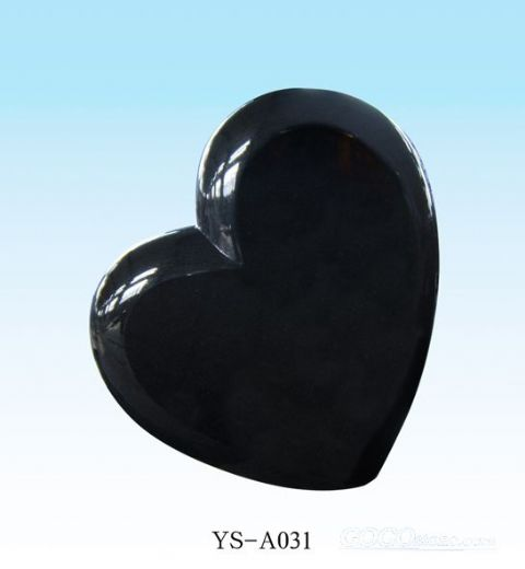 china black granite heart shape tombstone