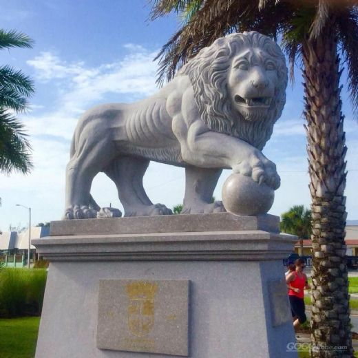 stone granite lion sculpture