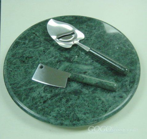 natural new polished green marble serving tray for tableware