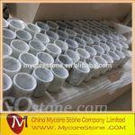 Carrara White Marble Stone Pen Holder