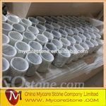 Carrara White Marble Drink Coaster