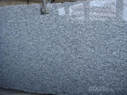 rippling white flowre  granite g slab