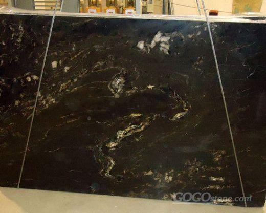 black titanium granite slab