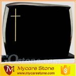 chinese absolute black cross tombstone