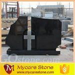 customized design hebei black cross tombstone