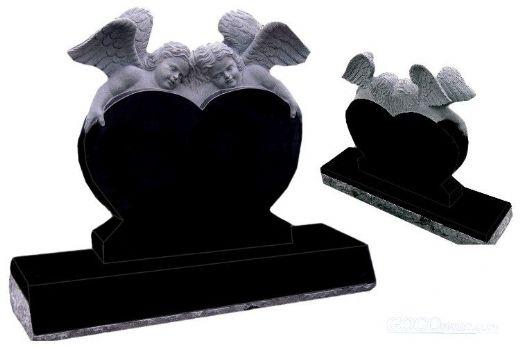 Shanxi black baby angle heart tombstone