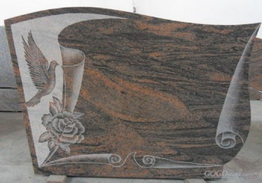 new design red flower granite tombstone with best price