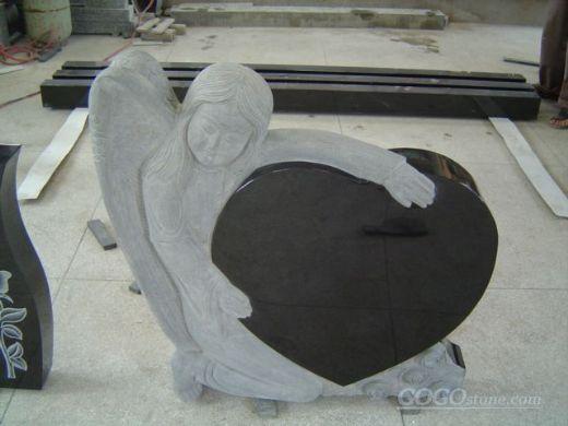China black angle heart headstone wholesale