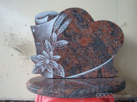 Flower carving tombstone headstone