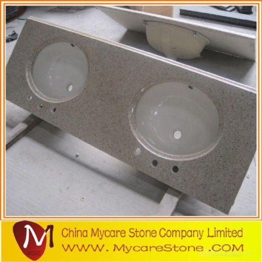 Cheap granite Double sink granite vanity tops