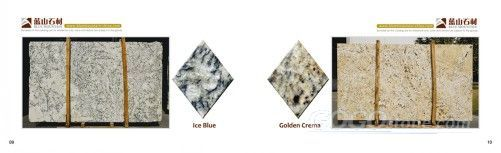 Ice Blue & Golden Crema