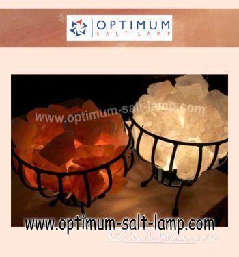 Baskit shape optimum salt lamp