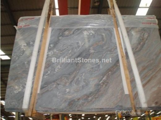 Italy Palisandro Bluette Nuvolato Marble Slab Products