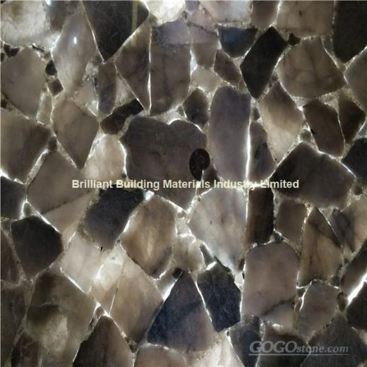Backlit Smoky Rock Crystal Semiprecious Stone