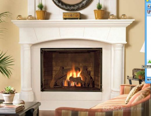 modern simple fireplace hearth