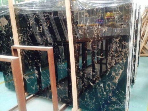 black portoro marble slab
