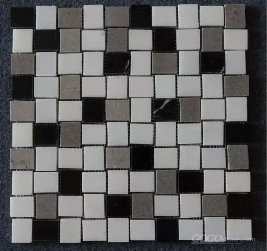 black and white marble mosaic pattern