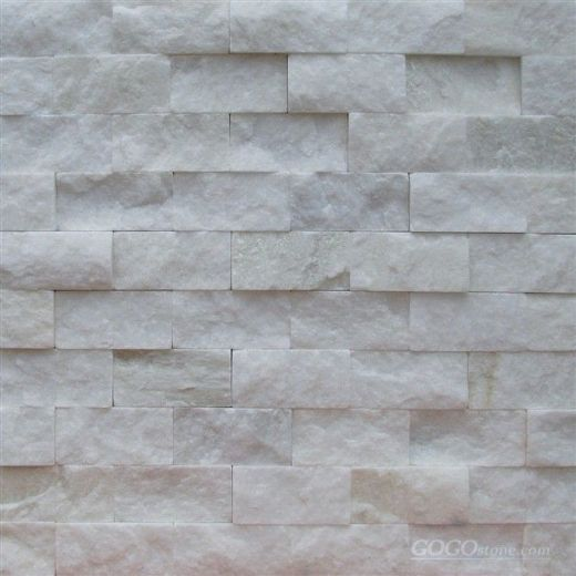 white quartzite mosaic tile
