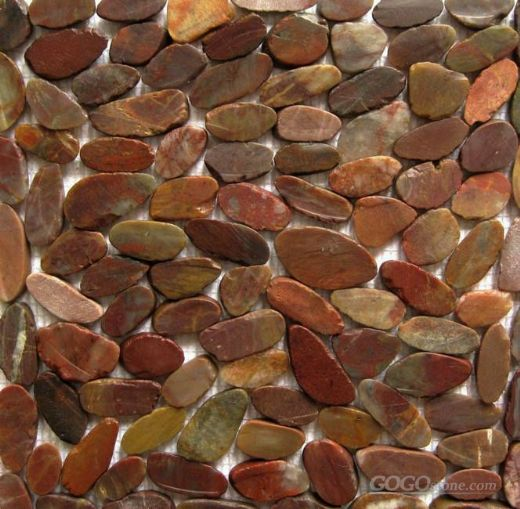 red flat split pebble tile,red river pebbles