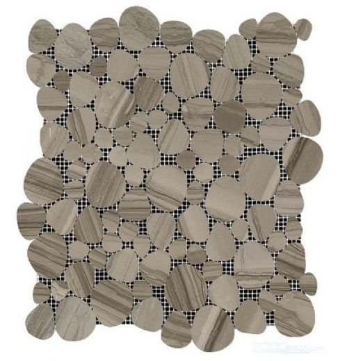 grey serpeggiante marble mosaic