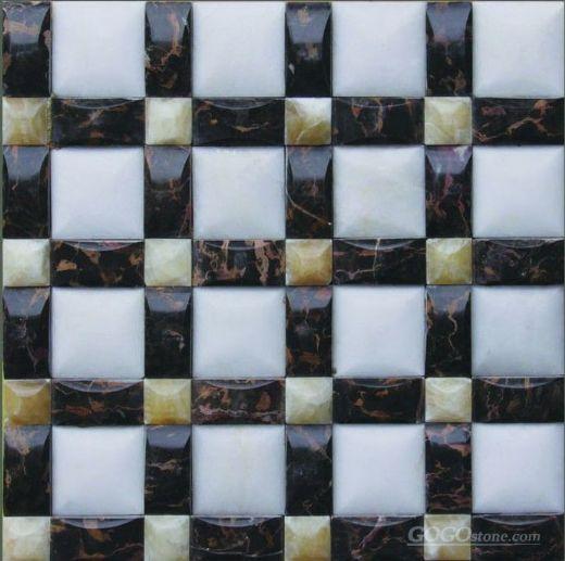 China onyx marble mosaic