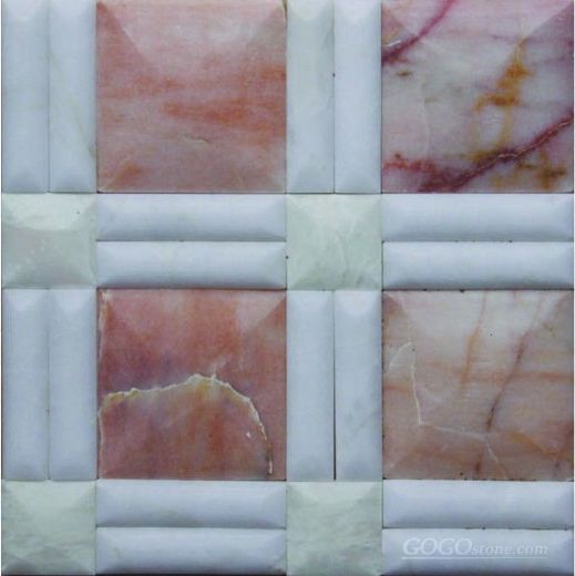 Pink Onyx marble mosaic
