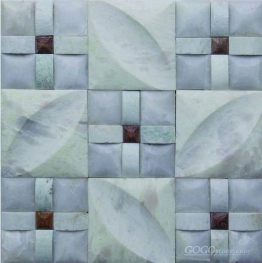 Greenjade marble mosaic