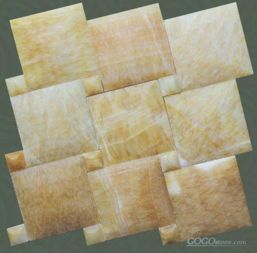 Yellow onyx marble mosaic