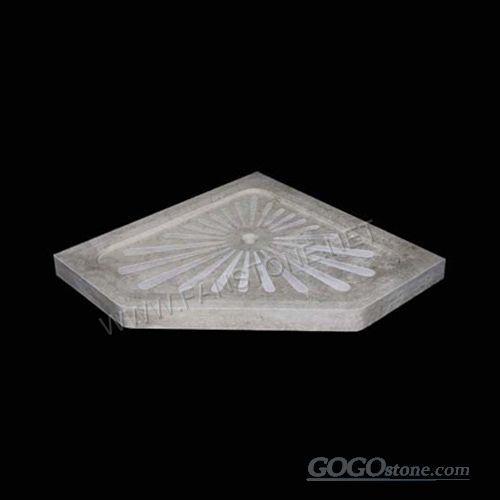 Irregular shape Grey Granite shower tray