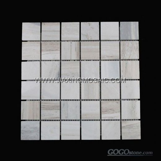 "Palissandro Blue Square 2"" Polished Marble Mosaic Tile"