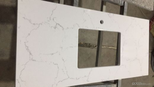 White Veined Collection Quartz Stone Solid Color for Bathroom Vanity Top functional and should be an