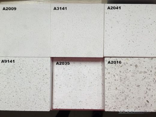 Fine Grain White Corian Stone for Pre-Fabricated Tops