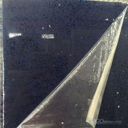 Shining Blue Quartz Stone Slab for Solid Surface