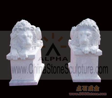 To Sell White Marble Lion Sculptures
