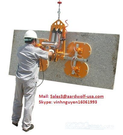 STONE VACUUM LIFTER 100, AARDWOLF Lifter, stone handling equipment, stone clamp, material handling