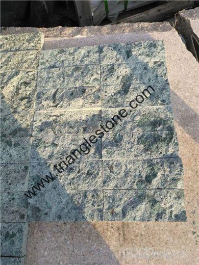 Green swimming pool tiles ,green sukabumi stone