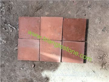 Terracotta tiles red color