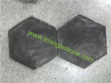 Black terracotta tiles