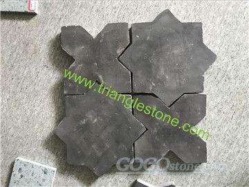 Star&Cross shape terracotta tiles black color
