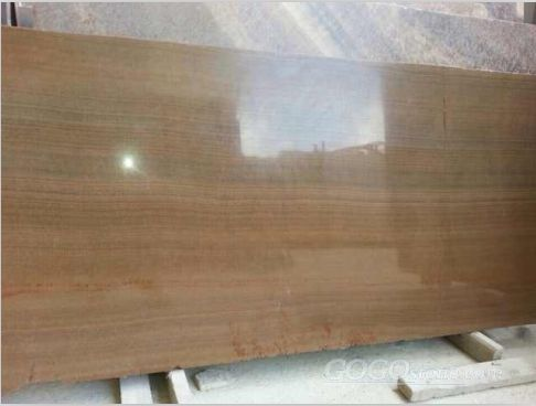 Chinese Yellow Wooden Marble Slab