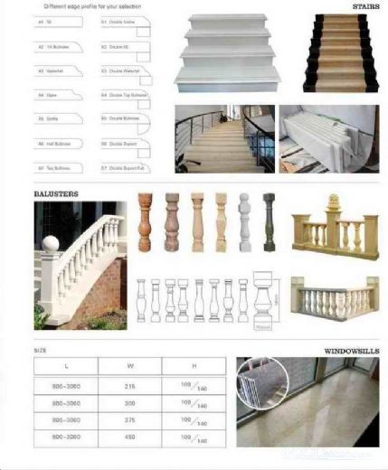 Stair step windowsill and baluster
