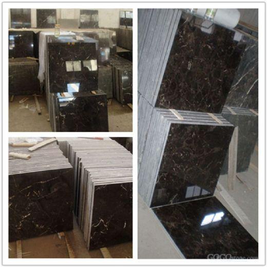 Dark Emperador,White wooden,Carrara white marble tile slab