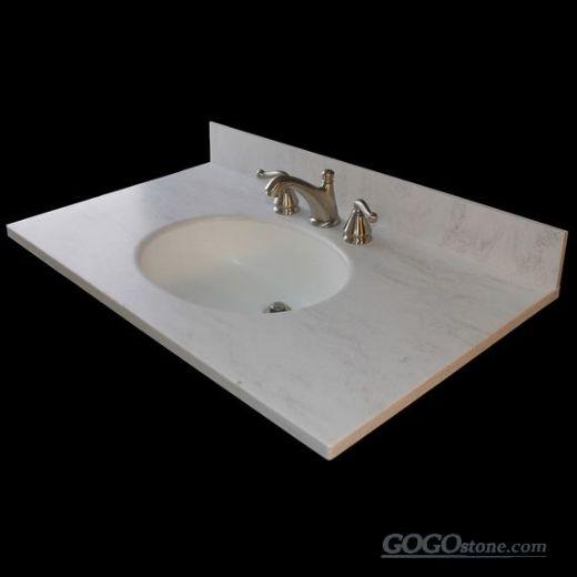 Oriental white marble countertop